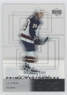 2000-01 Upper Deck Ice - [Base] #107 - J.P. Vigier /1500