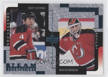 2000-01 Upper Deck Legends - [Base] #79 - Scott Stevens, Martin Brodeur