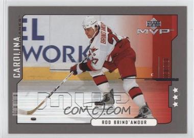 2000-01 Upper Deck MVP - [Base] - Third Star #38 - Rod Brind'Amour