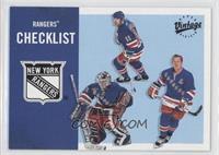 New York Rangers Team Checklist