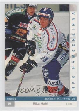 2001-02 Cardset Finland SM-Liiga - [Base] #30 - Riku Hahl