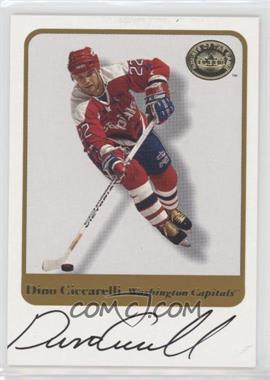 2001-02 Fleer Greats of the Game - Autographs #DICI - Dino Ciccarelli