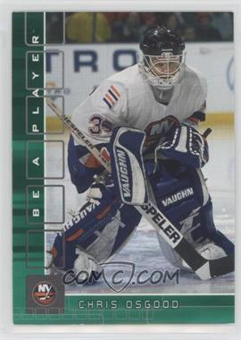 2001-02 In the Game Be A Player Memorabilia - [Base] - Emerald #339 - Chris Osgood /10