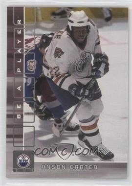 2001-02 In the Game Be A Player Memorabilia - [Base] #16 - Anson Carter