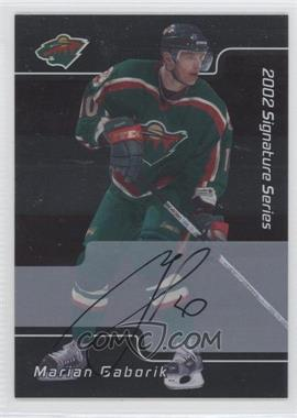 2001-02 In the Game Be A Player Signature Series - [Base] - Autograph [Autographed] #084 - Marian Gaborik