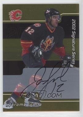 2001-02 In the Game Be A Player Signature Series - [Base] - Gold Autograph [Autographed] #005 - Jarome Iginla