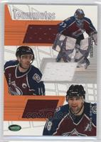 Patrick Roy, Joe Sakic, Chris Drury #/30