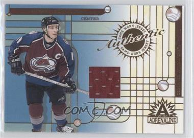 2001-02 Pacific Adrenaline - Game-Worn Jerseys #10 - Joe Sakic