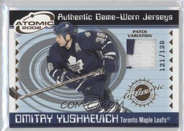 2001-02 Pacific Atomic - Game-Worn Jerseys - Patch #49 - Dmitri Yushkevich /128