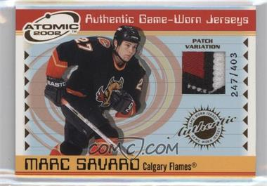 2001-02 Pacific Atomic - Game-Worn Jerseys - Patch #6 - Marc Savard /403