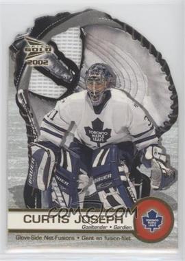 2001-02 Pacific Prism Gold McDonald's - Glove Side Net-Fusions #6 - Curtis Joseph