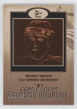 2001-02 Pacific Prism Gold McDonald's - Hockey Greats #1 - Raymond Bourque