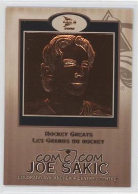 2001-02 Pacific Prism Gold McDonald's - Hockey Greats #2 - Joe Sakic