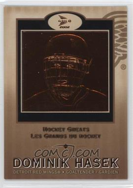 2001-02 Pacific Prism Gold McDonald's - Hockey Greats #4 - Dominik Hasek
