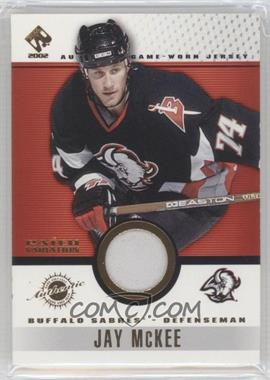 2001-02 Pacific Private Stock - Game-Used Gear - Patch #11 - Jay McKee