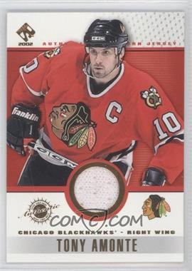 2001-02 Pacific Private Stock - Game-Used Gear #20 - Tony Amonte