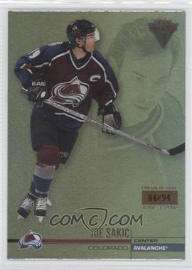 2001-02 Pacific Private Stock Titanium - [Base] - Premiere Date #37 - Joe Sakic /94