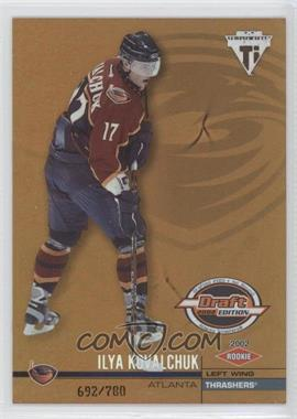 2001-02 Pacific Private Stock Titanium Draft Edition - [Base] #105 - Ilya Kovalchuk /780