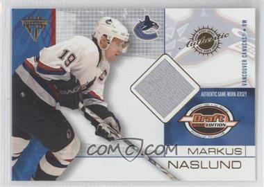 2001-02 Pacific Private Stock Titanium Draft Edition - [Base] #96 - Markus Naslund
