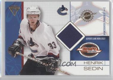 2001-02 Pacific Private Stock Titanium Draft Edition - [Base] #98 - Henrik Sedin