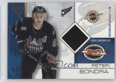 2001-02 Pacific Private Stock Titanium Draft Edition - [Base] #99 - Peter Bondra