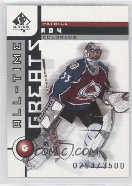2001-02 SP Authentic - [Base] #93 - Patrick Roy /3500