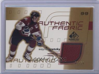 2001-02 SP Game Used Edition - Authentic Fabric - Gold #AF-GR - Wayne Gretzky /50