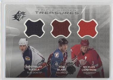 2001-02 SPx - Hidden Treasures #TT-KBL - Rostislav Klesla, Rob Blake, Nicklas Lidstrom