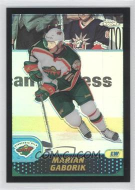 2001-02 Topps Chrome - [Base] - Black Refractors #18 - Marian Gaborik /50