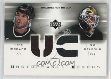 2001-02 Upper Deck Challenge for the Cup - Unstoppable Combos #UC-MB - Mike Modano, Ed Belfour