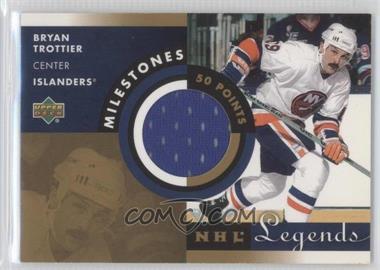 2001-02 Upper Deck Legends - Milestones Jerseys #M-BT - Bryan Trottier