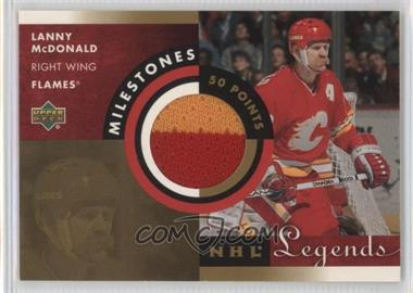 2001-02 Upper Deck Legends - Milestones Jerseys #M-LM - Lanny McDonald