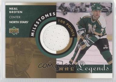 2001-02 Upper Deck Legends - Milestones Jerseys #M-NB - Neal Broten