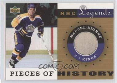 2001-02 Upper Deck Legends - Pieces of History Sticks #PH-MD - Marcel Dionne