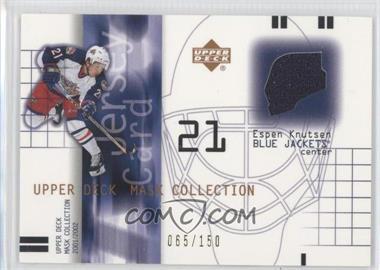 2001-02 Upper Deck Mask Collection - Jersey #J-EK - Espen Knutsen /150
