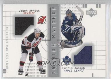 2001-02 Upper Deck Mask Collection - Premium Matchup #PM-AJ - Jason Arnott, Curtis Joseph