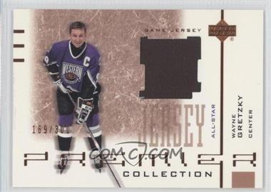 2001-02 Upper Deck Premier Collection - Jerseys Bronze #B-WG - Wayne Gretzky /300