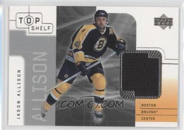 2001-02 Upper Deck Top Shelf - Game-Used Jerseys #JA - Jason Allison