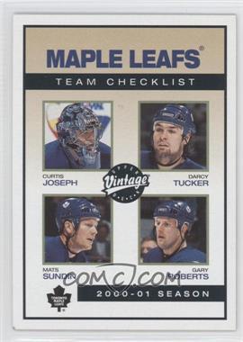 2001-02 Upper Deck Vintage - [Base] #243 - Darcy Tucker, Mats Sundin, Gary Roberts, Curtis Joseph