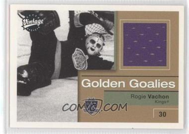 2001-02 Upper Deck Vintage - Golden Goalies #GG-RV - Rogie Vachon