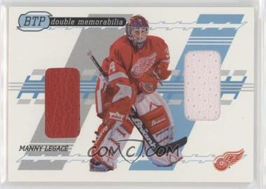 2002-03 In the Game Be A Player Between the Pipes - Double Memorabilia #DM-12 - Manny Legace