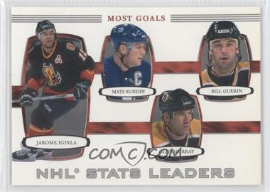 2002-03 In the Game Be A Player First Edition - [Base] #372 - NHL Stats Leaders - Most Goals (Jarome Iginla, Mats Sundin, Glen Murray, Bill Guerin)