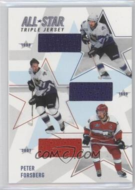 2002-03 In the Game Be A Player Memorabilia - All-Star Triple Jerseys #ASTJ-04 - Peter Forsberg
