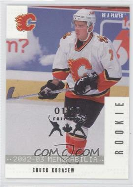 2002-03 In the Game Be A Player Memorabilia - [Base] - Fall Expo #278 - Chuck Kobasew /10