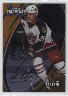 2002-03 In the Game Be A Player Signature Series - [Base] - Gold Signatures [Autographed] #059 - Espen Knutsen