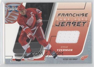 2002-03 In the Game Be A Player Signature Series - Franchise Jersey #FJ-11 - Steve Yzerman