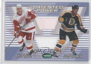 2002-03 In the Game Parkhurst - Patented Power #PP-10 - Brett Hull, Joe Thornton /20