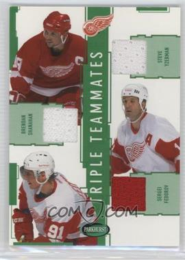 2002-03 In the Game Parkhurst - Triple Teammates #TT-4 - Steve Yzerman, Brendan Shanahan, Sergei Fedorov /60