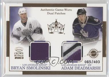 2002-03 Pacific Crown Royale - Authentic Game-Worn Dual