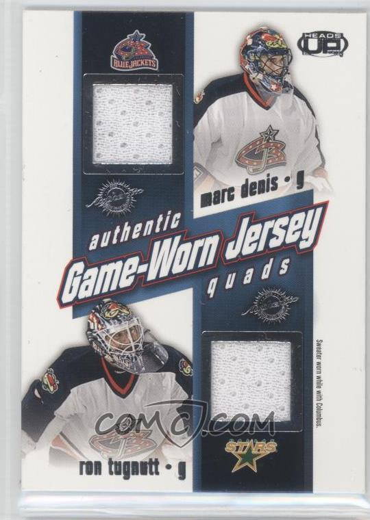 0d8534aa2 levyjere s 2002-03 Pacific Heads Up - Game-Worn Jersey Quads  10 - Marc  Denis